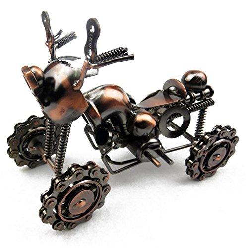 Xiuxiandianju Semplice moderna ruota artigianali in metallo alimentari in ferro battuto quattro ATV moto Per la casa Finestra Bar Cafe Decor - Bar Atv