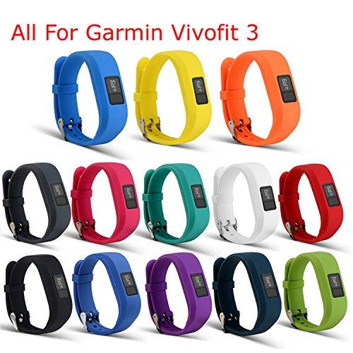mtsugar Ersatz-Armband mit und sichere Verschlüsse Garmin Vivofit 3nur (ohne Tracker, nur Ersatz Bands), Set of 13pcs
