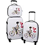 Martinique 3 tlg. Kofferset Hartschale Trolleyset + Trolley Koffer New York Beautycase