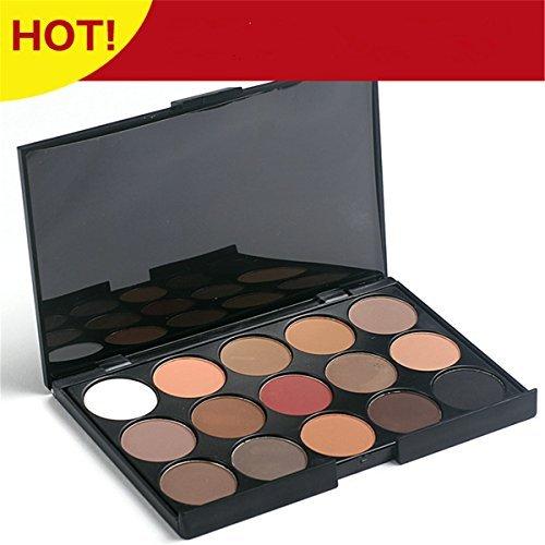 PhantomSky 15 Couleurs Fard à Paupières Palette de Maquillage Cosmétique Set - Parfait pour une utilisation professionnelle et quotidienne