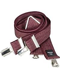 LINDENMANN Mens Braces / Suspenders / mens suspenders, X-shape, 35 mm stetch, XXL, red, 7549-006