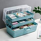 JXXDDQ Gabinetto Medico con Scomparti divisi, Cassetta di Pronto Soccorso Contenitore di Emergenza Kit di Pronto Soccorso Kit di Emergenza (Size : M)