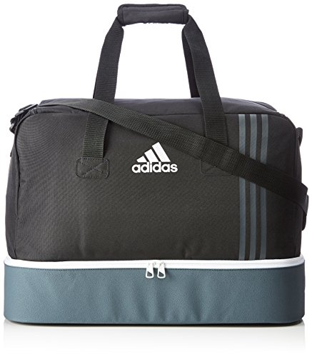 adidas Tiro Team Sporttasche B46124, Mehrfarbig (Black/Dark Grey/White), 28 x 55 x 37 cm (Medium)