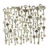 LAAT Antique Bronze Squelette Clés Charms Vintage Steampunk Gears Cogs Montre Roue Pièces Engrenages Roues Pendentif Fabrication de Bijoux Fournitures DIY -69PCS