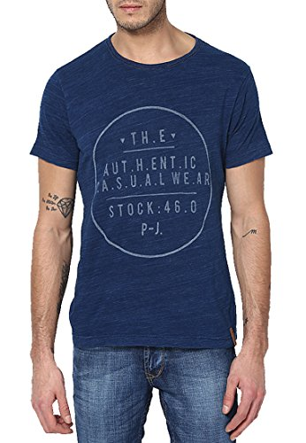 Jack & Jones Men Casual T-Shirt (5711885270109 Navy Blazer Small )  available at amazon for Rs.657