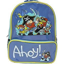 Bugzz - Mochila bolsa de viaje para niños, Diseño: Piratas, Color: Azul