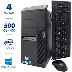 Ordinateur de Bureau Lenovo ThinkCentre M92P - Intel Core i5 3570@3.40GHz - 4Go RAM - 500Go - Windows 10 Home (Reconditionné)