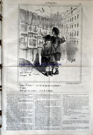 CHARIVARI (LE) du 13/01/1868 - LA SEMAINE DE LA BOURSE - LES MEXICAINES ET LE CONSTITUTIONNEL