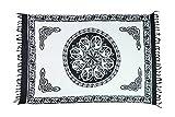 Ciffre Sarong Pareo Wickelrock Lunghi Dhoti Tuch Strandtuch Keltisch Kreis Weiß Batik + Schnalle