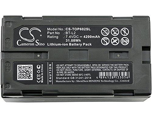 CS-TOP602SL Akku 4200mAh Kompatibel mit [TOPCON] ES Total Station, ES-600G, ES-602, ES-602G, ES-605, ES-605G, Hiper II, HiPer II Receivers, HiPer V GNSS Receivers, OS Total Station, OS-602G, OS-605G