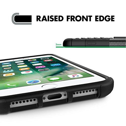 iPhone 6 Plus/iPhone 6S Plus Case #boom Shock 2 Coque Housse Etui De Smartphone Avec Béquille De Support Intégrée. Coque Protectrice Fine Et Élégante. Contours Antiglisse. Protection Hybride En Mélang Noir