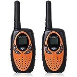FLOUREON PMR Funkgerät 8 Kanal Walkie Talkie UHF400-470MHZ 2-Wege Radio Reichweite bis zu 3KM Gelb