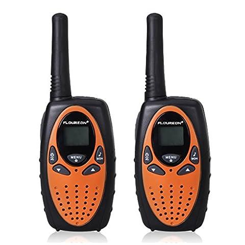 FLOUREON PMR Funkgerät 8 Kanal Walkie Talkie UHF400-470MHZ 2-Wege Radio