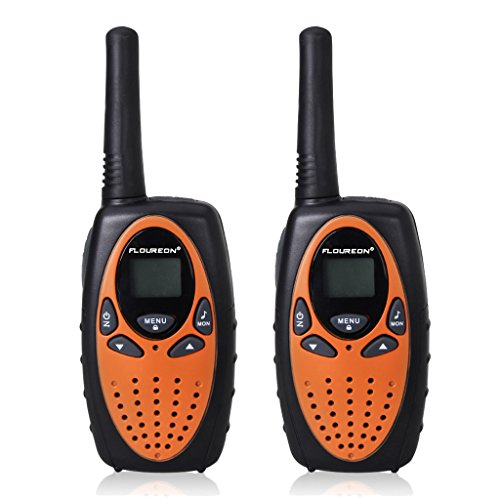 51VUMkM8gLL - BEST WALKIE TALKIE FLOUREON Walkie Talkies for Kids 2PCS Children 2-Way Radio Outdoor Toys with Long Distance Range M-880 8 Channels Walkie talky for Festival Presents -Orange buy & price Review uk