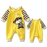 Pyjama Bébé Fille Garçon Grenouillère Combinaisons en Coton Bouton à Manches Longues Chaud Pyjama Déguisement 0-3 Mois