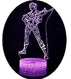 3D Optische Illusions-Lampen Win-Y LED-Schreibtisch Tischlampe 7 Farb-Touch-Lampen-Ausgang Schlafzimmer-Büro-Dekor für Kindergeburtstag Weihnachtsgeschenk (Kurando Mitsutake 2)