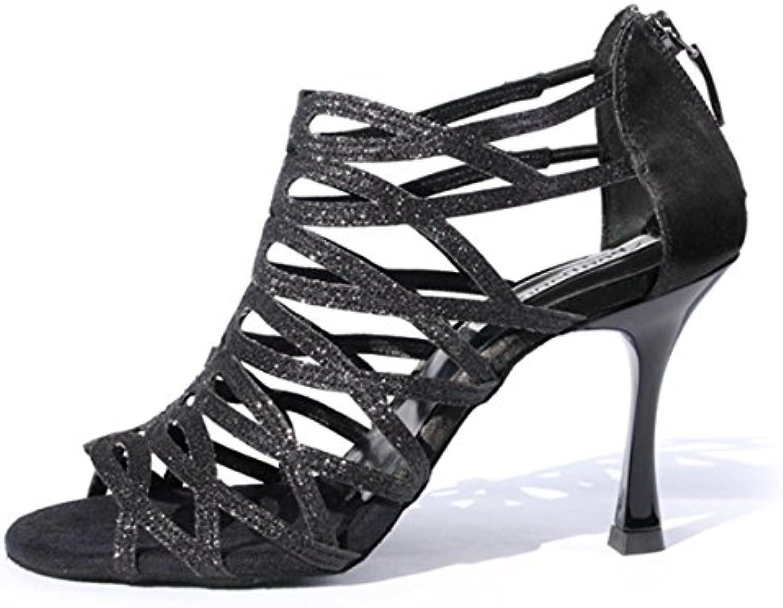 Femmes Danse Chaussures de Noir Pro Portdance SatinGlitter PD803 BPHqwWHO