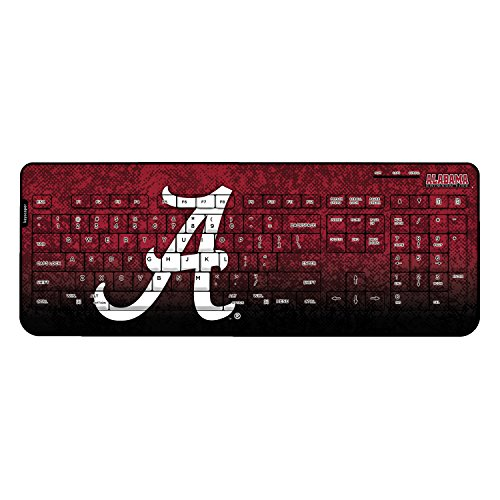Alabama Crimson Tide Keyscaper Wired Keyboard officially licensed by the University of Alabama Full Size Low Profile Direct Print Plug & Play by keyscaper