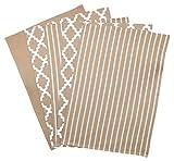 Pinguin Home 100% Set von 5verschiedene Design Tee Handtücher 65x 45cm, Baumwolle, Beige, 65x 45x 0,5cm
