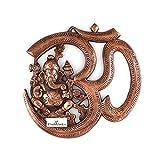 #3: Collectible India Lord Ganesha Wall Hanging Sculpture God Ganesh Om Metal Idol Home Decor Ganpati Lucky Feng Shui Decorative Wall Mask