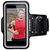 AARATEK Pro Sport Armband for iPhone 6,6s, Galaxy S6,S5,S4, iPods... (Black) - Rated #1 - Best for running, workouts, cycling, fitness, or any activity outside or in the gym!