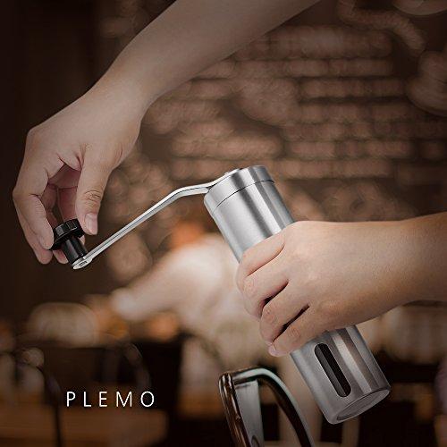 PLEMO Moulin à Café Manuel Réglable en Inox