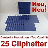 Bewerbungsmappen Cliphefter Klemmmappen 25 Stück DUNKELBLAU