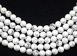 beadsvision HOWLITH weiß 8mm Perlen Kugeln rund Schmuckperlen Edelstein 1 Strang