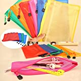 Shop Buzz Pack Of 6 Water Proof Multi Purpose Pouch / Return Gift / Stationery Organizer / Table Organizer / No Mess In School Bags And On Study Table For All Age Groups (Colours As Per Availability) Size 24 X 16 Cm