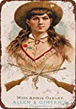 BDTS 1887 Annie Oakley Vintage Look Reproduction Metal Tin Sign 12X18 inches