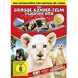 Die große Kinderfilm-Geschenk-Box mit drei preisgekrönten Tier-Abenteuern: Der weiße Löwe, Benny - Allein im Wald, Die Königin der Erdmännchen