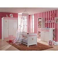 Preisvergleich für Babyzimmer Cinderella komplett Sets verschiedene Ausführungen (3 teilig mit 3 türigem Schrank)