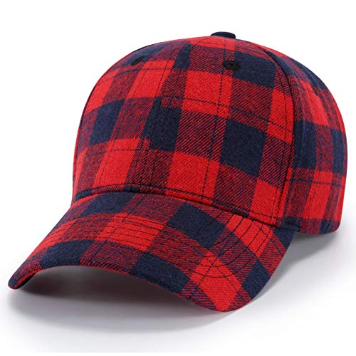 BQMO Unisex Rot Schwarz Plaid Baseball Cap Trucker Mützen Hut Papa Hüte Für Männer Sommer Visier Caps Für Frauen Hip Hop Streetwear Plaid Trucker Hut