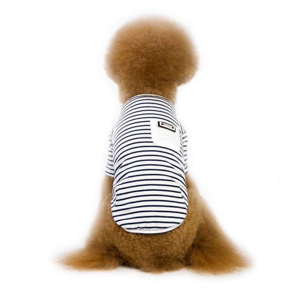 Gamloious New Small Dog Clothes Summer Cartoon Striped Dog Shirt Cute Yorkshire Terrier Tshirt Breathable Pet Vest