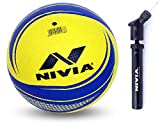 Nivia Craters Moulded Volleyball and Nivia Ball Pump Double Action