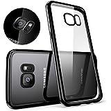 Samsung Galaxy S7 Edge Case MTURE Ultra Hybrid TPU Bumper for Galaxy S7 Edge Hülle Schutzhülle Shock Absorption Plating TPU Case Silicone Cover für Samsung Galaxy S7 Edge (Jet Schwarz)