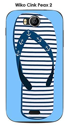 Coque Wiko Cink Peax 2 design Tong mariniere bleue