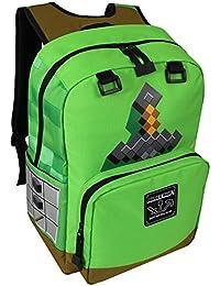 Preisvergleich für Minecraft Rucksack Stone Sword Tasche 43x30x18cm grün