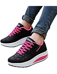 Elecenty scarpa sneakers estive eleganti donna scarpe Scarpa a zeppa  altalena crescente per donna b71f90c4100