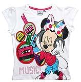 Minnie Mouse T-Shirt Kollektion 2017 Shirt 92 98 104 110 116 122 128 Mädchen Kurzarmshirt Maus Weiß (110-116, Weiß)