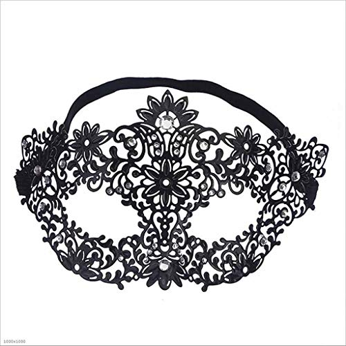 -Maske Blume Fee Diamond Ball Half Face Maske Make-Up-Spiel Gegenstand Metall Eiserne Prinzessin Brille ()