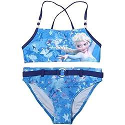 Frozen - Die Eiskönigin - Traje de una Pieza - para niña Bikini Blau; Blue Medium