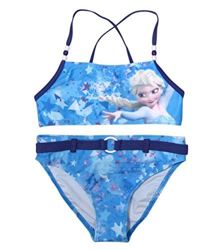 Frozen - Die Eiskönigin - Maillot Une pièce - Fille Multicolore Blau Anna und Elsa 110 cm-116 cm