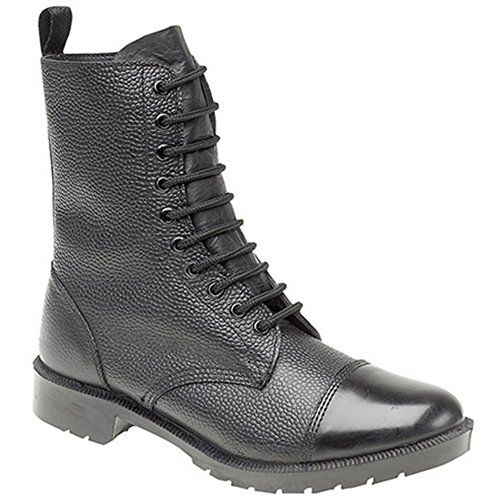 Grafters Cadet Boot Black Grain Leather