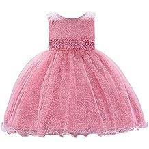 Happy cherry - Bebés Vestido de Princesa sin Manga para Ceremonia Boda Falda  Larga de Fiesta 89859bdda06f