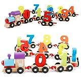 Digital Train assemblaggio blocchi giocattolo, Mamum mini digitale treno in legno alfabeto numero giocattoli educativi di strumenti per bambino