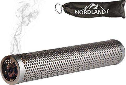 Räucherröhre 30cm - Räuchern auf jedem Grill - Intensiv Rauch - Edelstahl Kaltrauch-Erzeuger - Räucherbox - Tube Smoker 12