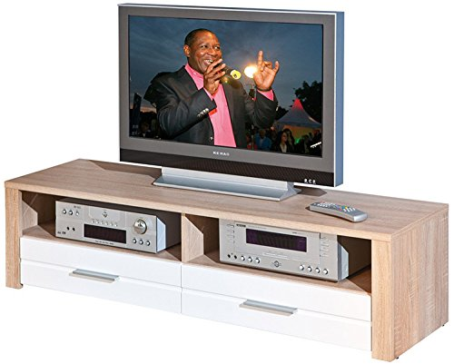 PEGANE Console TV Sonoma chêne, Dim : 150 x 37 x 40 cm