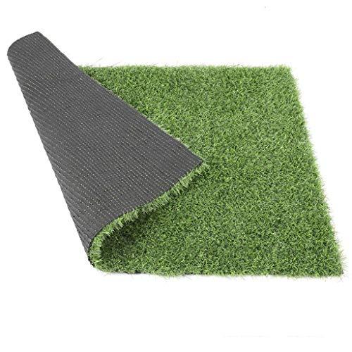 Jinxiaobei Gräser Outdoor Kunstrasen Dicke Kunstrasenteppich mit Drainagelöchern und realistischem Kunstrasenteppich aus Gummi Perfekt for Landschafts-Kunstrasen in Innen- und Außenbereichen -
