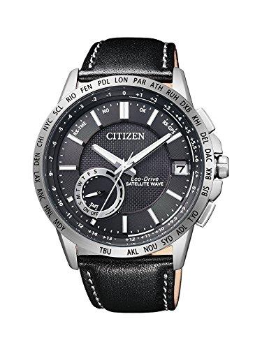 Citizen Herren-Armbanduhr Satellite Wave Analog Quarz Leder CC3000-03E